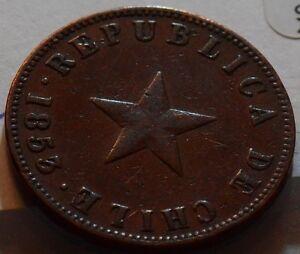 Chile 1853 Centavo C0011 combine
