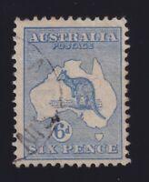 Australia Sc #8 (1913) 6d ultramarine Die II Kangaroo Used CDS
