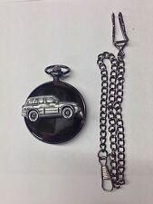 Suzuki Grand Vitara ref245 emblem polished black case mens pocket watch