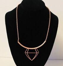London Rose Gold Colour Geometric Necklace Jewellery BM038
