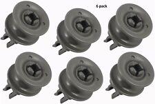 Genuine OEM (6 Pack) LG Dishwasher Upper Rack Roller 4581DD3002A (Includes 6)