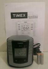 Timex T301 Auto Set Dual Alarm Digital Clock Radio Reprinted Manual & Batteries