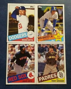2020 Topps Series 2 1985 35th Anniversary Inserts All Stars with Blue You Pick