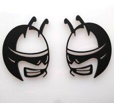 Pair Matte Black Scat Pack Head Emblems fits Dodge Challenger Charger Badge