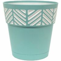 Marshall Pottery 7009023 9.85 x 10 in. Deroma Mosaic Resin Mosaic Planter44; ...