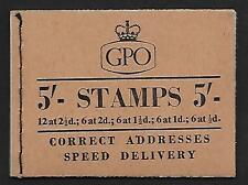 H27 5/- Wilding GPO booklet - March 1957 UNMOUNTED MINT