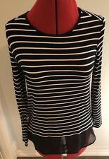 Witchery Size Small Striped Tank. Brand New Black/ White, 10/12 Rrp$60