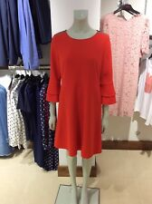 Hugo Boss Women's Bell Sleeve Dress With Stretch Atrimmy 50396219 Red UK 10