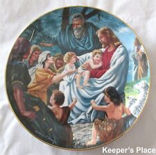 Franklin Mint Let The Little Children Come To Me Plate Heirloom Collection