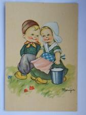 MARIAPIA Tomba vecchia cartolina bambini olandesi