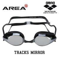 ARENA TRACKS RACING SWIMMING  GOGGLES, BLACK MIRROR, TRIATHLON GOGGLES