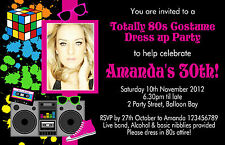 Personalised Rock & and Roll Birthday Invitations Party invites 60's 70's 80's