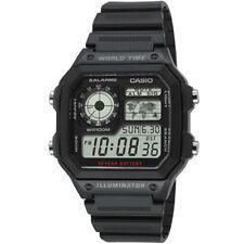 Casio Digital AE-1200WH-1AV World Time ILLUMINATOR Wristwatch