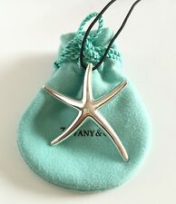 Tiffany & Co. Elsa Peretti Huge Starfish & Black Silk Cord 18""