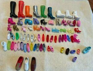 Barbie's & Ken SINGLE Shoes 74 pcs