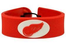 Detroit Red Wings NHL Team Color Hockey Puck Rubber Bracelet