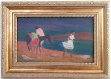 Armenian Art Gallery-Oil Painting,1958 Impressionism,Armenia,Untitled Field Scen
