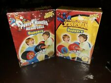 Two Sets2012-13 Socker Boppers BigTimeToys Inflatable PowerRangers&Spiderman NIB