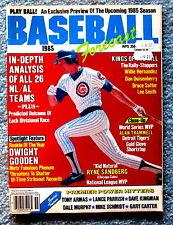 Baseball Forecast 1985 Preview Magazine Cover Shot: Ryne Sandberg jmc