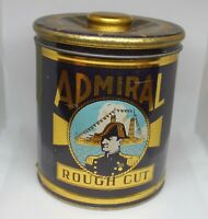 Vintage Admiral  Rough cut Tobacco tin Canister