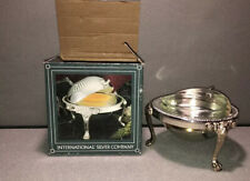 Vintage International Silver Co Rolling Cover Butter Dish