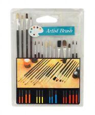 ARTIST PAINT BRUSH SET - 15 Piece - All Purpose Oil Watercolor Acrylic