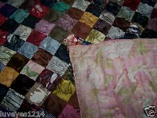 late 1800 vintage antique Victorian Puff patchwork blanket-throw-bedspread-quilt