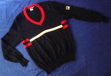 SWEATER vintage '80s FILA era Borg TG.52  veste M/L   made in Italy RARE
