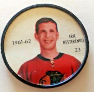 1961-62 Shirriff Coin:#23 Eric Nesterenko Chicago Black Hawks