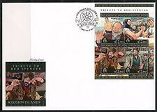 SOLOMON ISLANDS 2016 TRIBUTE TO BUD SPENCER SHEET FIRST DAY COVER