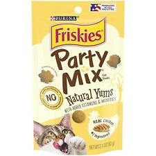NEW Friskies Party Mix Natural Cat Treats Real Chicken 2.1 oz Package