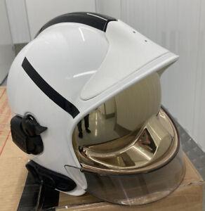 MSA Gallet F1SF25 Fire Helmet White Firefighter Fireman Helmet