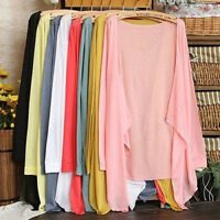 EG_ Women's Summer Sunscreen Long Sleeve Cardigan Tops Cover up Shawls Wraps Hap