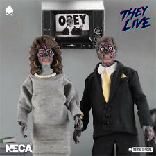 "NECA - THEY LIVE Retro Clothed Alien 2 Pack 8"" [Pre-Order] • NEW & OFFICIAL •"