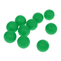 10Pcs Green Soft PU Foam Golf Balls for Indoor Outdoor Training Practice