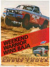 1986 CHEVROLET S-10 Pickup advertisement, Baja Racer, Mike Horner