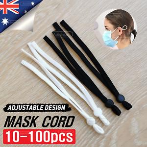 10-100pcs Elastic Cord DIY Adjustable Mask Band Ear Rope Button Adjuster Buckle