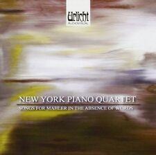 CD SONGS FOR MAHLER IN THE ABSENCE OF WORDS NEW YORK PIANO QUARTET SCHNITTKE