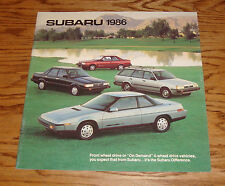 Original 1986 Subaru Full Line Deluxe Sales Brochure 86 4WD XT Coupe Sedan