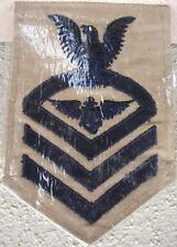 Original WW2 US NAVY Aviation EM PILOT Wing KHAKI Chief Rate