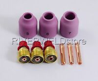 TIG Welding Gas Lens Collect Nozzle Consumables For TIG WP 9 20 25 Torches 9pcs