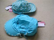 BNWT M&S summer hats for twins 6-7 yrs Aqua