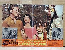 CACCIATORE DI INDIANI fotobusta poster Kirk Douglas Western The Indian Fighter