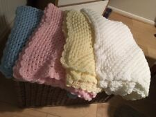 """Baby Toddler Hand Crochet Knit Shawl 48"""" by 48"""" white, other colours available"""