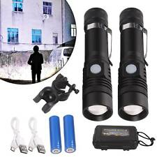 2X 60000lm High Power Zoom Flashlight LED Rechargeable Super strongn new Torch
