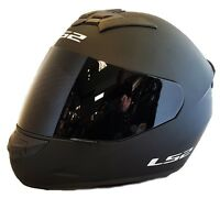 LS2 FF352 ROOKIE FULL FACE MOTORCYCLE HELMET MATT BLACK WITH DARK BLACK VISOR
