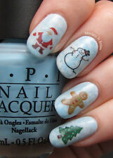 Christmas Snowflakes Nail Art Stickers Decals Santa Snowflakes Gingerbread Man