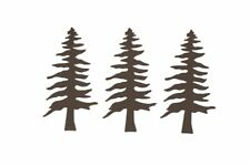 Pine Tree Rustic Metal Shape- 4 1/8 inches - 3 pieces per package