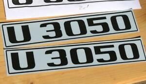 Unimog U3050 Typenkennzeichen 2x Türe Typenbezeichnung Sticker Aufkleber P02
