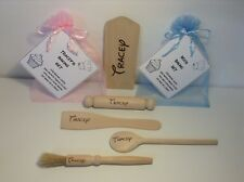 Personalised Children's Baking Set - Any Name, Choice of Font - Kids Gift Wooden